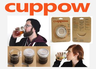 The Cuppow turns Mason jars into to-go cups.