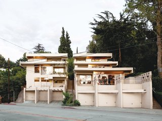 From the street, the Bubeshko Apartments haven't changed much in the 74 years since they were constructed. Giant planters that Schindler had hoped would shroud the terraces in meandering vines proved to be difficult to maintain. Owner Joe DeMarie hopes to connect them to an irrigation system to produce the hanging-gardens effect Schindler envisioned.