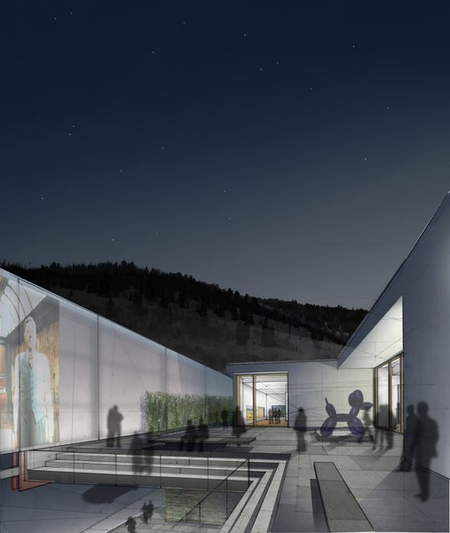 Kimball Art Center Finalists - Photo 4 of 10 - The Sky Room on the roof of the Williams Tsien entry is one of the many that makes use of a newly expanded roof space. With a sculpture garden and a spot to screen movies under the big Utah sky, its appeal is obvious.