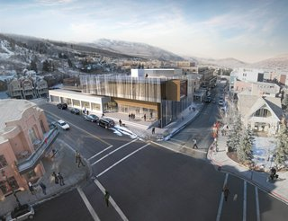 Sparano Mooney is the only Utah firm to have made the final five, and the love of local materials is on display here. The long logs not only echo the timber on the nearby mountains, but the ghostly image of white aspens are etched onto the glass facade.