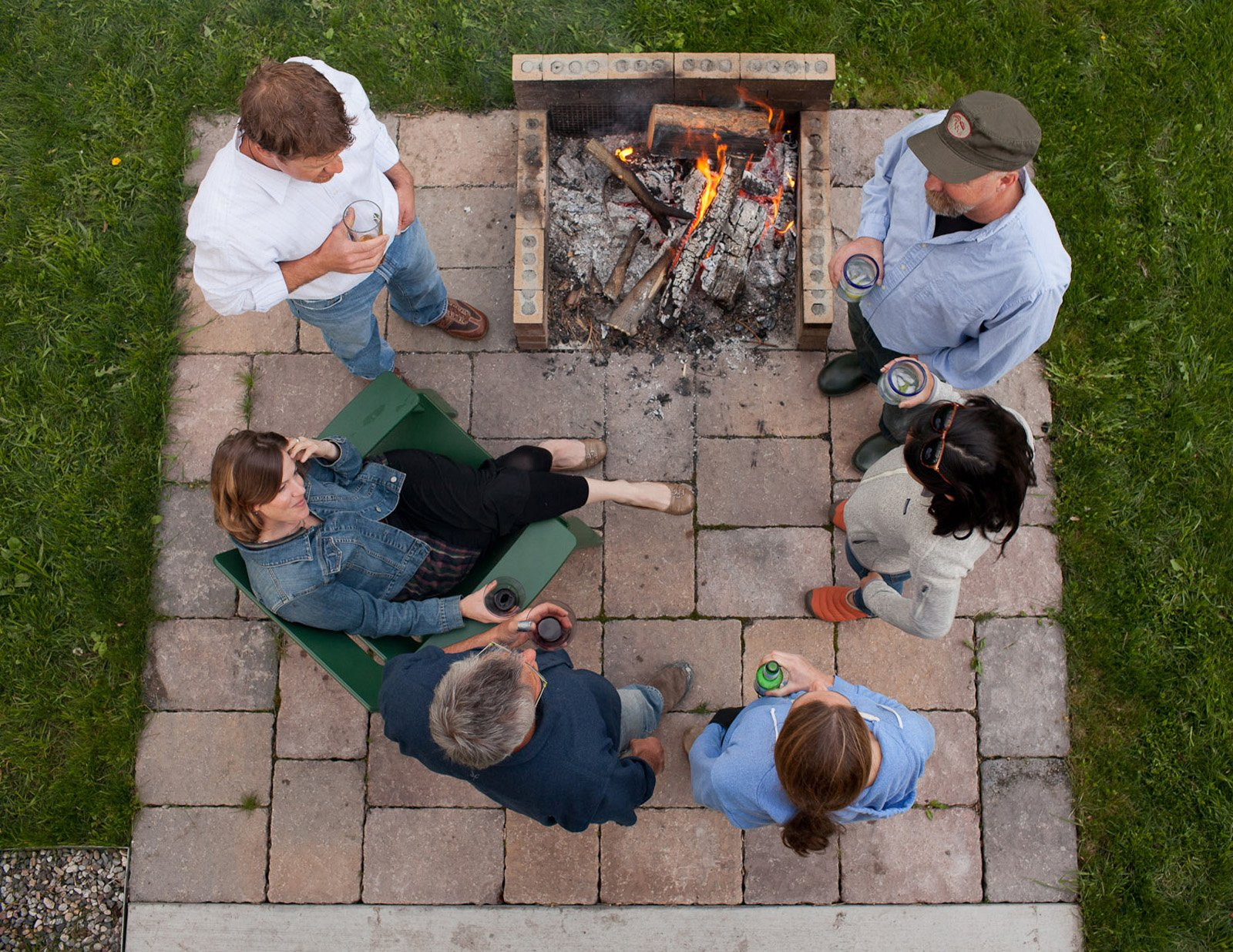Though Whitlock lives alone, he very much wanted a home built for entertaining. Martini Mondays are de rigeur when he's in town and we're assured they often move out to the backyard fire pit.  Photo 14 of 16 in A Sound Professional Goes DIY While Building an Affordable Montana Home