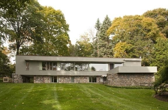 A sibling of Johnson's Glass House is the Breuer-Robeck House, a privately owned historic property in New Canaan, designed by noted modern architect and furniture designer Marcel Breuer.  Photo 1 of 5 in Preserving New England Houses
