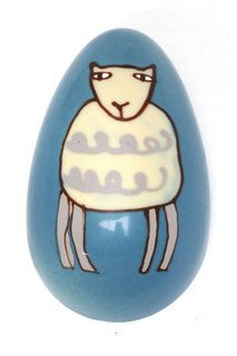 The Lamb egg, which retails for 35 pounds, is filled with handmade chocolates, ganaches and chocolate squares.