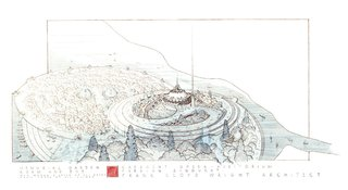 From Frank Lloyd Wright's fairytale Opera House and Alvar Aalto's Museum of Fine Arts (both unbuilt) to Josep Lluís Sert's U.S. Embassy and Gio Ponti's Development Board of Iraq headquarters (both still standing), the exhibition allows us to imagine what Baghdad could have been. <br><br>Frank Lloyd Wright, Plan for a Greater Baghdad, 1957-1959, Baghdad, Iraq.