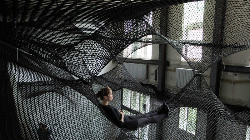 Numen Net suspended art installation