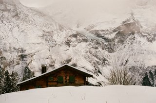 A cabin in Mürren, Switzerland, photographed by Emily Sullivan, as seen on the Free Cabin Porn tumblr.