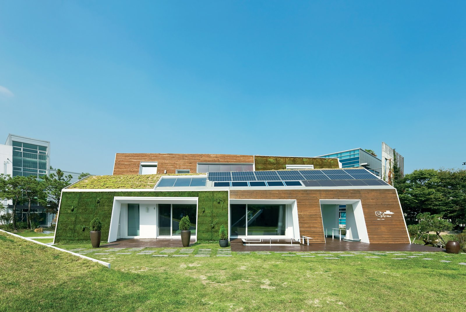 Modern Green Concept House in South Korea