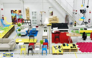 IKEA PS Collection - Photo 2 of 3 - The entire PS 2012 range, prototyped and photographed on the factory floor in Sweden.