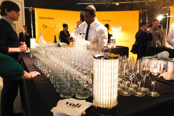 The Bars were illuminated by Vica's battery-powered LED AG Lanterns. Voli Lyte Vodka was served, along with Peroni beer and Sneaky Pete's (for the health conscious).