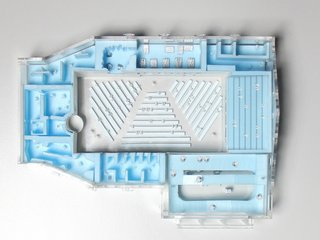 Model of the center's floorplan.