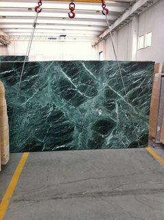 Rose sourced the green marble for an upcoming Park Avenue apartment from the same quarry used by Mies for the 1929 Barcelona Pavilion.