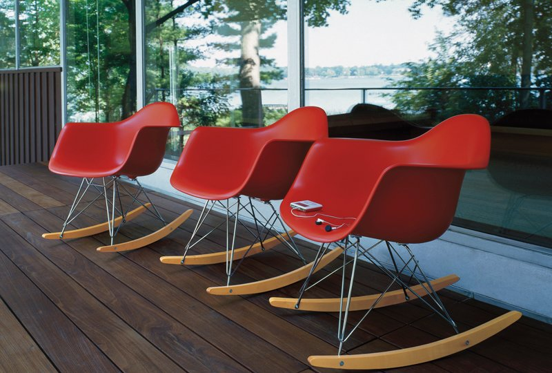 The Eames shell chair also comes in a rocking chair version, and in a slew of colors.  Photo 5 of 6 in Q&A with Herman Miller's Marg Mojzak