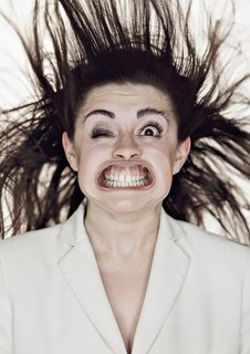 What happens to the human face in gale force winds.