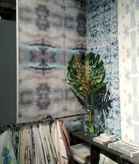 "Organic, hand-painted wallpaper is still going strong in many design quarters. This range by Eskayel, designed by Shanan Campanaro, also comes in an eco-friendly contract version, made of 31% post-consumer recycled content with a Class ""A"" fire rating and low VOC emissions."