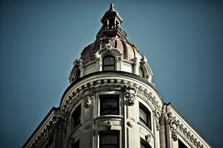 The cupola of The Nomad Hotel at 1170 Broadway, in all its glory. Architecture firm Stonehill & Taylor was responsible for the building's office-to-hotel conversion, including work on the facade and that wedding cake cupola.