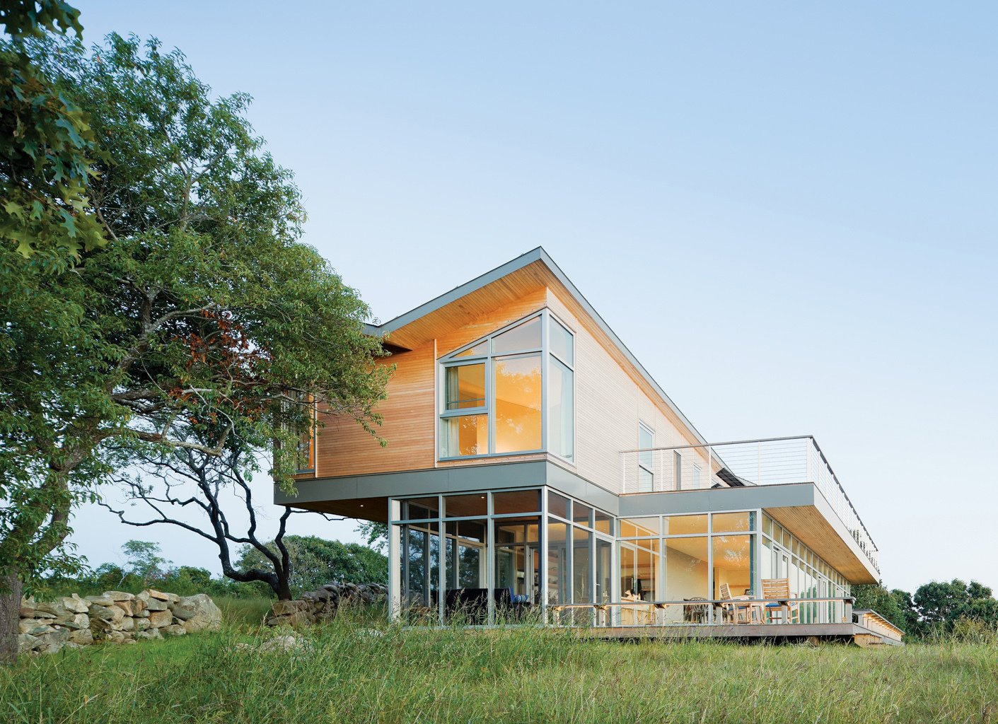 Tagged: Exterior, House, and Wood Siding Material.  Photo 2 of 2 in Modern Martha's Vineyard Retreat