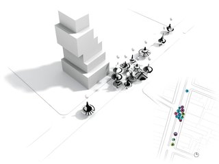FUNnel Vision was a joint proposal imagining 'spinning tops' as temporary tent structures for the New Museum's Festival of Ideas for the New City in 2011. Njenworks (the firm Jen operated before joining Pentagram) designed the proposal with experimental architecture practice SOFTlab.