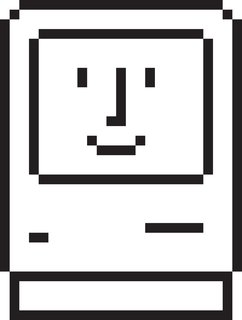 "The ""Happy Mac"" was one of Apple's first icons."