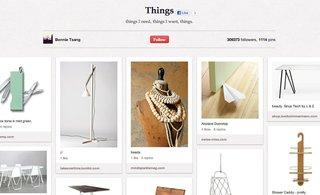 "Bonnie Tsang's Things board has 1,117 pins of things she ""needs and wants."""