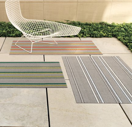 Electric Stripe Utility mats by Chilewich ($45) shophorne.com.