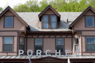 Located on the site of renovated mill worker's quarters, Porches still retains its aura of down-to-earth livability even as it houses some of the world's most impressive artists. Consisting of six multi-hued 1890's Victorian row houses, its two connecting porches give the illusion of one extremely long vacation cabin.<br><br>Designed by Nancy Fitzpatrick (the mastermind behind the newly revamped <br><br>Red Lion Inn in Stockbridge, Massachusetts) and her design team, Porches is situated directly in heart of the Berkshires, 2.5 hours from Boston and 3.5 hours from New York City.