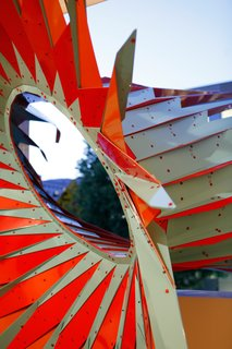 Here's a detailed shot of the sculpture. The installation will be on view until October 14, 2012.