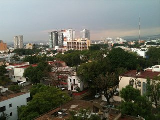 Hotel Demetria, Guadalajara - Photo 7 of 7 - The Guadalajara skyline from the fourth floor of the hotel. Throughout the city, especially Hotel Demetria's neighborhood, Lafayette, remnants of European colonialism are present and integrated into modern Mexican society.