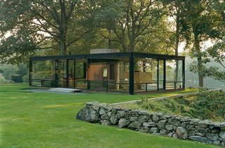 Philip Johnson's Glass House in New Canaan, Connecticut. Photo courtesy of the National Trust.