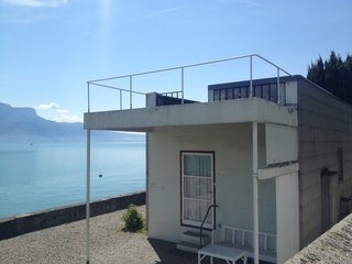 Le Corbusier's Villa Le Lac, a small house he did for his parents on Lake Geneva. Photo by Soren Rose.