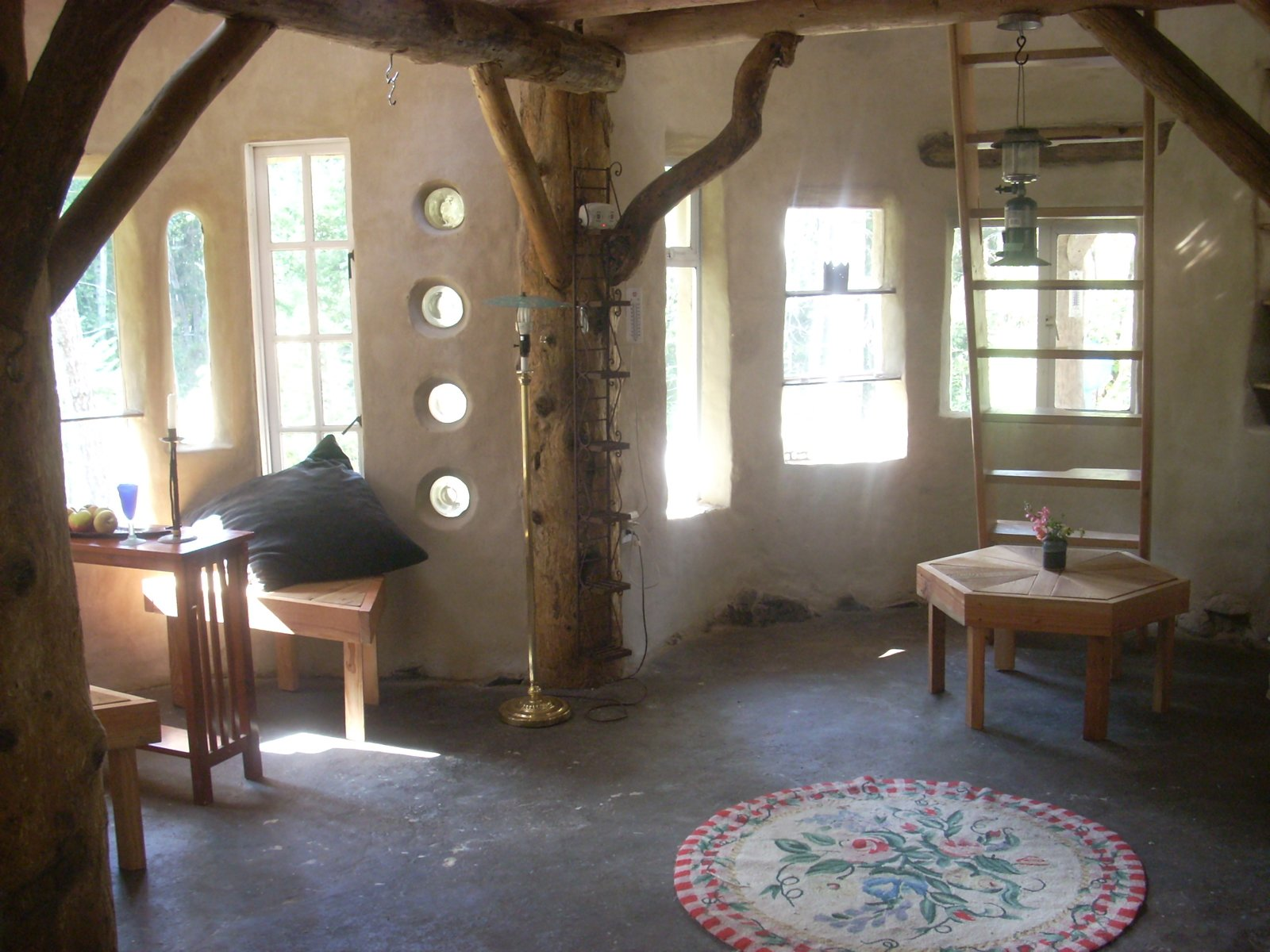 Here's the interior of the cob house. Photo courtesy of Jen Gobby.  Photo 3 of 5 in Mud Mavens: Mud Girls Founder Jen Gobby