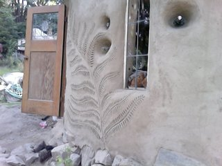 A fern design is emblazoned on a client's home. Photo courtesy of Jen Gobby.