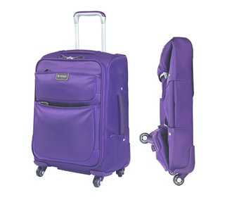 """Shown here is the 20"""" carry-on size from Biaggi's Contempo collection."""