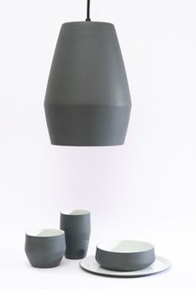 German designer Mark Braun first exhibited at Talents Tendence in 2006. Here are his Join lamp and dinnerware, a family of objects created early in his career. Northern Lighting now produces the Bell pendant lamp that is based on this form.