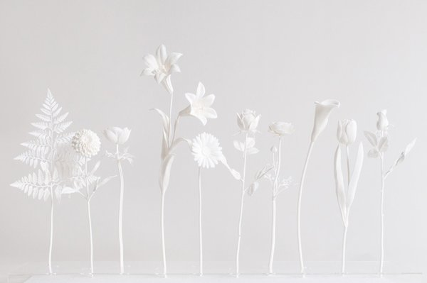 The duo of Mario Minale and Kuniko Maeda exhibited their 3D-printed vinyl flowers at Spazzio Rossana Orlandi at the Milan Salone del Mobile this April.  Photo 8 of 10 in Tendence 2012 at Messe Frankfurt: Talents 10 + 1