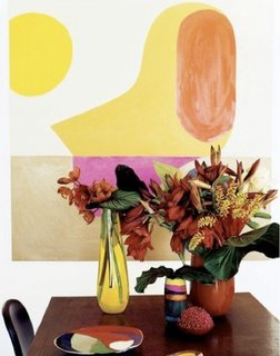 "Known for hosting entertaining gatherings in their beachside home overflowing with exotic flowers, Ormandy and Olsen—an off-work couple as well—make gorgeous vases.<br><br>""We love the relationship between the humanness of the forms we create and the very modern material that we use—resin,"" says Ormandy (who also created the abstract painting in the background). ""We see ourselves as artisans and embody the Japanese philosophy of <br><br>wabi-sabi where there's perfection in the imperfections. When you think of plastics you think of the mass produced, but what we do isn't like that. Each piece is handmade and designed with the intention of being cherished for a lifetime."""" /pIn step with their latest collection, a href=""http://dinosaurdesigns.com.au/collections/sorbet/""Sorbet/a, Dinosaur Designs will be serving Sorbet and Champagne in their Nolita boutique at 211 Elizabeth Street (at Prince) tonight for New York City's a href=""http://fashionsnightout.com/fno/nyc""Fashion's Night Out/a./p dwell-photo photoId=""6133529542536290304"" caption=""""We don't have any specific rituals for entertaining, it changes each time depending on the party and the people. Music's always very important as a way to get people to relax and be in the moment. Of course there's always a good glass of wine, great food and flowers, and a few pieces of Dinosaur Designs to add color to the table,"" says Ormandy."" /dwell-photo photoId=""6133529543618445312"" caption=""Dinosaur Designs' latest collection, Sorbet, was inspired by that most prized summer delicacy: sorbet. The idea is a departure from previous lines, where elements of pure nature have been the inspiration."" /dwell-photo photoId=""6133529544671191040"" caption=""""Sorbet is nature sexed-up,"" says Olsen, ""We were excited by the wonderful transformations that happen to vibrant colors like watermelon, raspberry, apple, and mint when you make sorbet. The pure pigment is transformed and softened by the churning and the freezing. The color becomes cooler but there's still an intensity in the flavor."""