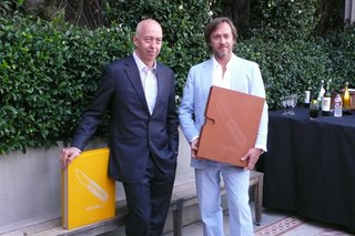 10 Minutes with Marc Newson - Photo 1 of 5 - Benedikt Taschen (left) and Marc Newson (right) at the Beverly Hills launch of Marc Newson: Works.