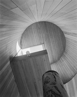 Modernist Angular Residence with Vertical Cedar Siding - Photo 5 of 6 -