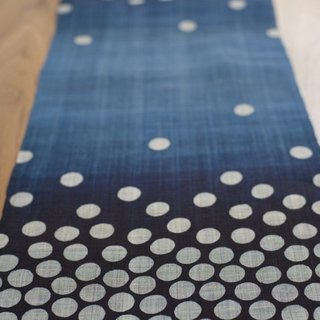 Husband-wife-studio Rowland Ricketts weaves the Hoshi table runner ($425) using traditional Japanese methods.