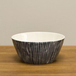 Cloth and Goods - Photo 4 of 6 - Earthenware Pinstripe bowl from the U.K. ($28).