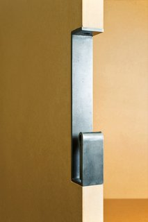 Currently, only the door handles are available in three colors of powder-coated steel, though the line will evolve over time with new products and finishes now in development.