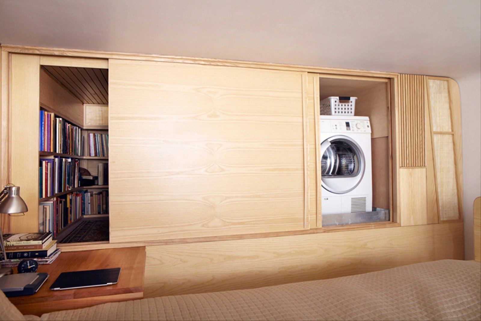 Photo 3 of 8 in Space-Saving Wood-Paneled Apartment in Manhattan