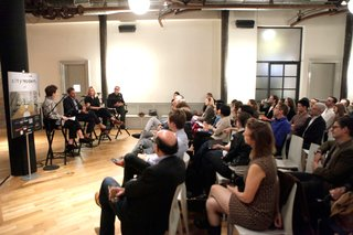 Audience members asked questions about the rapidly changing neighborhood of Williamsburg, the nature of Brooklyn design, and the effect of Brooklyn outside the city itself.