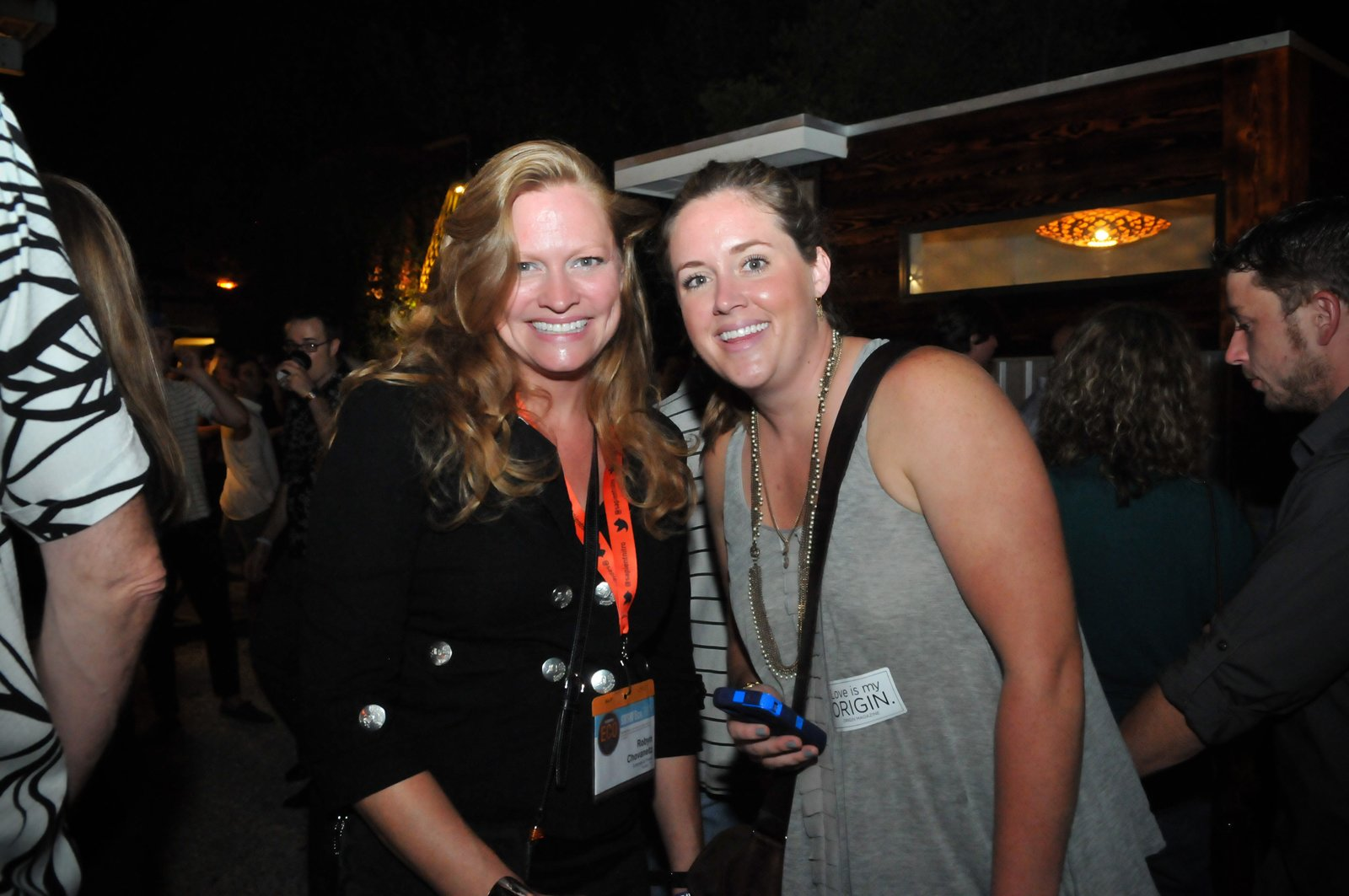 Two happy SXSW Eco attendees smile for the camera.  Photo 8 of 20 in Dwell Party Highlights: Celebrating Prefab Design at SXSW Eco