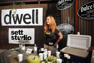 Dwell Party Highlights: Celebrating Prefab Design at SXSW Eco - Photo 11 of 20 - Bartender Elisabeth Champagne serves organic margaritas and muddled jalapeno-cucumber cocktails to thirsty guests.
