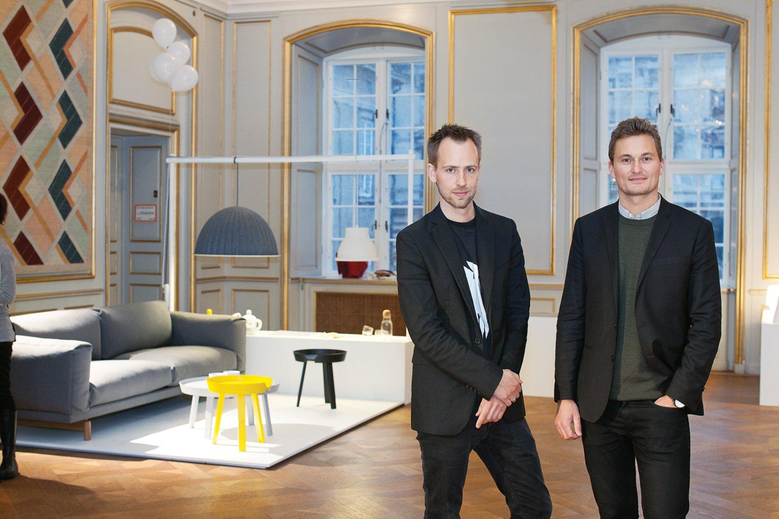 Muuto's Peter Bonnen and Kristian Byrge at last year's Designmuseum Danmark exhibition celebrating the company's five-year anniversary.  Photo 2 of 9 in Scandinavian Design Focus: Muuto