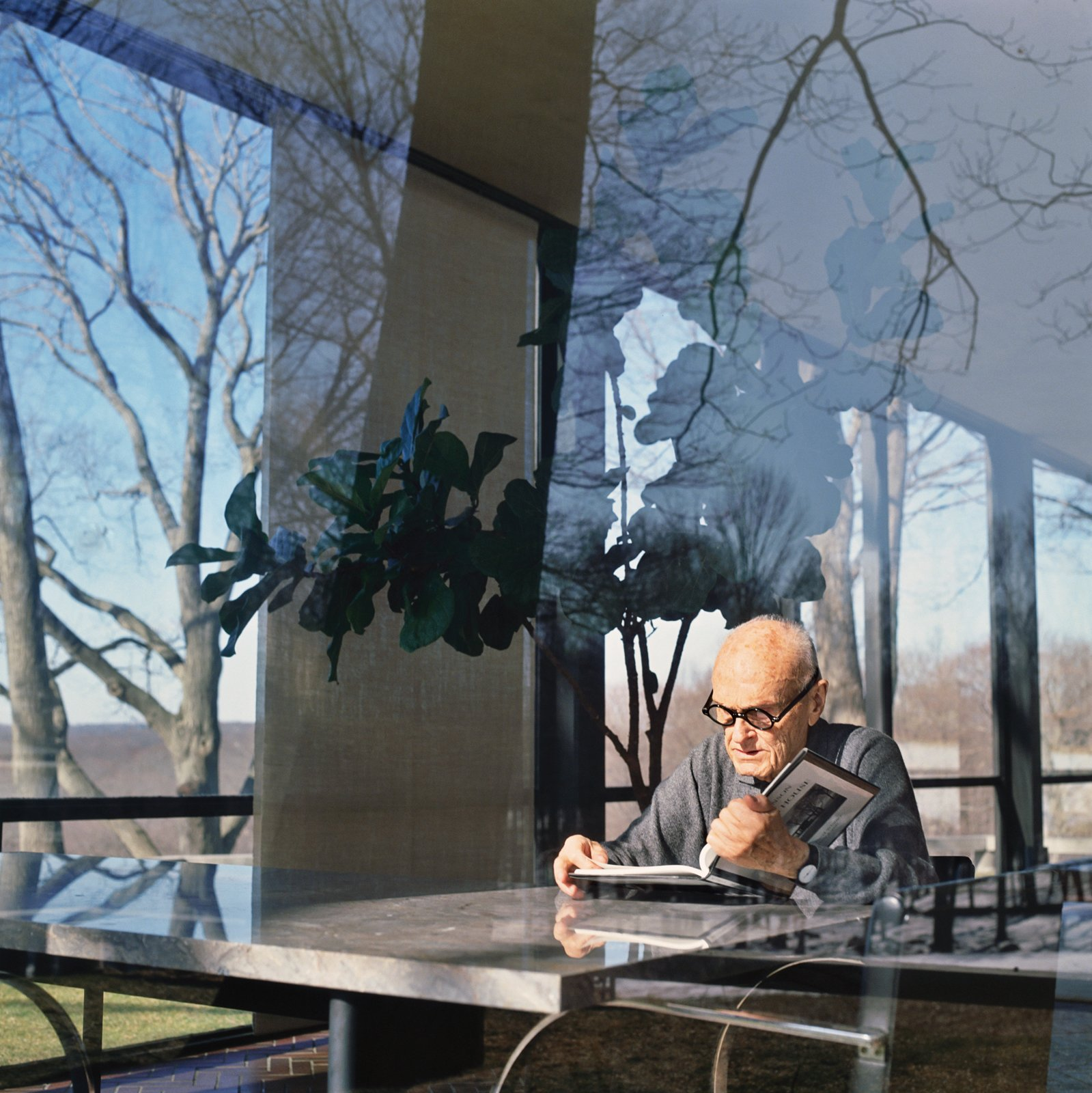 Architect Philip Johnson, renowned for the four-sided view from his iconic Glass House, could be called an aural architect. The house's approach is a gravel path that crunches loudly underfoot, announcing arrival. The house is tightly sealed, as silent as a church. And it is then, because of the perfect absence of sound, that the glass walls spring to life, like huge cinema screens, animated with outdoor images. Photo by Nora Feller/Corbis  Photo 2 of 3 in The World of Sound