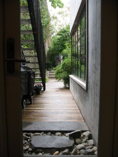 The walkway to the garden.
