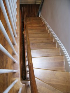 Light travels to each level of the home via the continuous staircase.