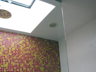 Tile work in the bathroom.