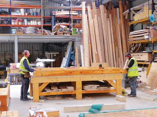 Locally-Sourced Prefab Prototype in Scotland - Photo 2 of 3 - Local workers built the prototype in a nearby workshop.